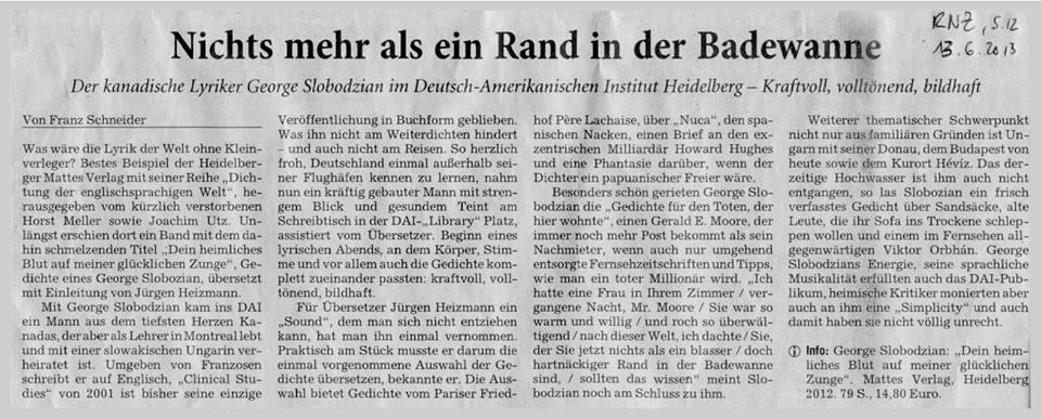 from the Rhein-Neckar-Zeitung 13 June 2013